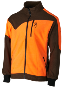 FLEECE, POWERFLEECE ONE ZIPPIN, GRÜN ORANGE